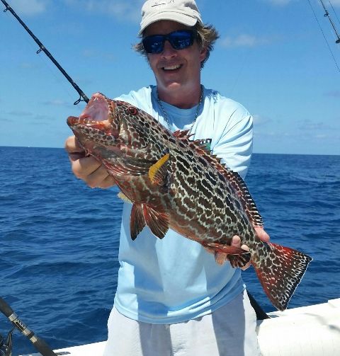 A couple of grouper from keys trip with Captain Joe Porcelli